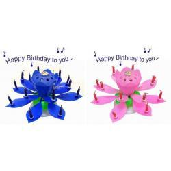 ** ŚWIECZKA wirująco grająca - KWIATEK* urodziny
