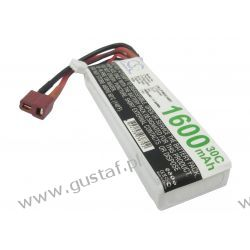 1600mAh 11.84Wh Li-Polymer 7.4V 2S 30C (Cameron Sino)