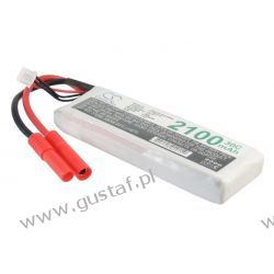 2100mAh 15.54Wh Li-Polymer 7.4V 2S 30C Gold Plug (Cameron Sino)