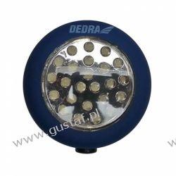 DEDRA Latarka 24 LED okrągła z magnesem i hakiem {baterie w zestawie} Pozostałe