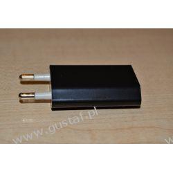 Ładowarka sieciowa USB 1A czarna (gustaf) HTC/SPV