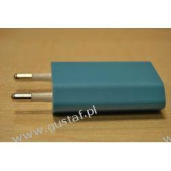Ładowarka sieciowa USB 1A niebieska (gustaf) Sieciowe
