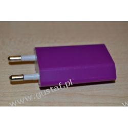 Ładowarka sieciowa USB 1A purpurowa (gustaf) Sieciowe