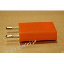 Ładowarka sieciowa USB 1A pomarańczowa (gustaf) Sieciowe