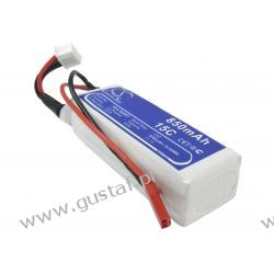850mAh 9.44Wh Li-Polymer 11.1V 3S 15C (Cameron Sino) Pozostałe