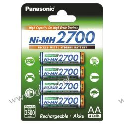 4 x akumulatorki Panasonic R6 AA Ni-MH 2700mAh (blister) Akumulatory