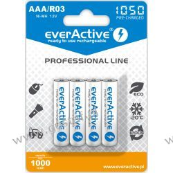 "4x everActive R03/AAA Ni-MH 1000 mAh ready to use ""Professional line"" Panasonic"