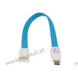 kabel USB->płaskie złącze micro USB 21.50cm ładowanie + transmisja danych (Cameron Sino)