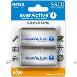 "2x everActive R20/D Ni-MH 5500 mAh ready to use ""Silver line"" Akumulatory"