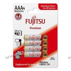 4 x Fujitsu Premium Alkaline LR03 AAA blister Toshiba