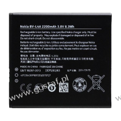 Nokia Microsoft Lumia 535 / BL-L4A 1905mAh 7.0Wh Li-Ion 3.7V (oryginalny) Baterie