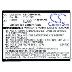 Alcatel One Touch Go Flip / TLi013C1 1350mAh 5.00Wh Li-Ion 3.7V (Cameron Sino) Alcatel