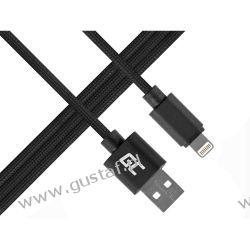 Kabel Przewód Lightning-USB do Apple iPhone iPad Nylon 1m (GreenCell) Telefony i Akcesoria