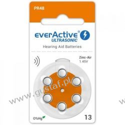 6 x baterie do aparatów słuchowych everActive ULTRASONIC 13 Akumulatory