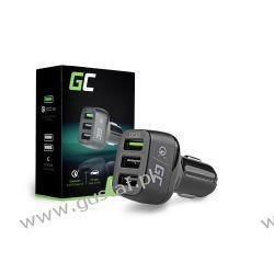 Ładowarka Samochodowa 3xUSB z Szybkim Ładowaniem Quick Charge 3.0 (GreenCell) Telefony i Akcesoria