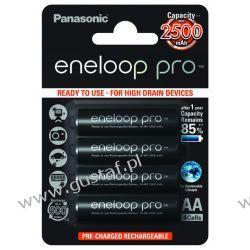 4 x akumulatorki Panasonic Eneloop PRO R6 AA 2500mAh BK-3HCDE/4BE (blister) Akumulatorki
