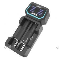 Ładowarka do akumulatorów cylindrycznych Li-ion 18650 Xtar D2 Inne akcesoria