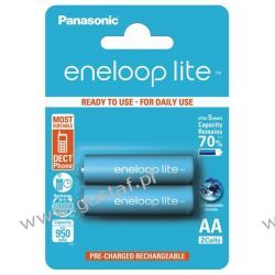 2 x Panasonic Eneloop Lite R6/AA 950mAh BK-4LCCE/2BE (blister) Canon
