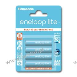 4 x Panasonic Eneloop Lite R03/AAA 550mAh BK-4LCCE/4BE (blister)
