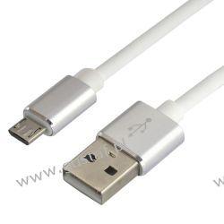 Kabel przewód silikonowy USB - micro USB everActive CBS-1MW 1m z obsługą szybkiego ładowania do 2.4A biały