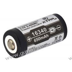 Akumulator Xtar 16340 / R-CR123 3,7V Li-ion 650mAh z zabezpieczeniem Akumulatorki