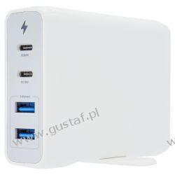 Biurkowa stacja ładująca 2x USB-C+2xUSB 75W kolor biały (Cameron Sino) Pozostałe