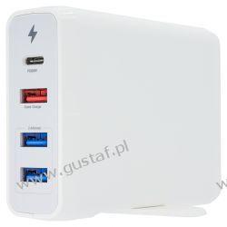 Biurkowa stacja ładująca 1x USB-C+1xUSB QC 3.0+2xUSB 75W kolor biały (Cameron Sino) Pozostałe