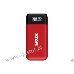 Ładowarka / power bank do akumulatorów cylindrycznych Li-ion 18650 / 20700 / 21700 / 26650 Xtar PB2S czerwony RTV i AGD