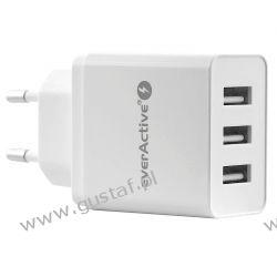 Ładowarka sieciowa do telefonu / smartfona everActive SC-300 3xUSB 3.4A Akcesoria