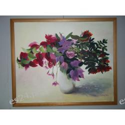 """OBRAZ"""" Kwiaty-różowe"""" płótno 61/50"""