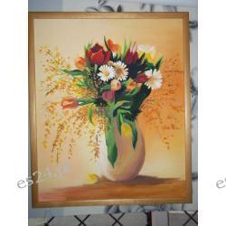 """OBRAZ """"Kwiaty w wazonie""""61x50"""
