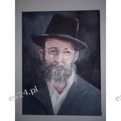 """OBRAZ """"Portret Żyda""""-olej- 40 x 30 cm."""