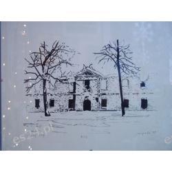 """GRAFIKA """"Ruiny zimą""""- serigrafia wym.28x35 ser. 8/12"""