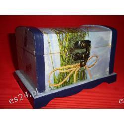 szkatułka drewniana 2- decoupage