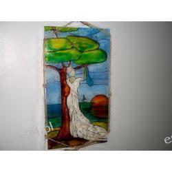 witraż dziewczyna -14 x 25 cm.