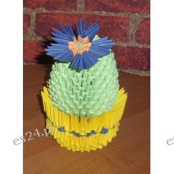 Kaktus w doniczce- origami 3d
