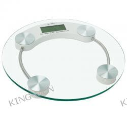 Elektroniczna waga łazienkowa ze szkła hartowanego - koło