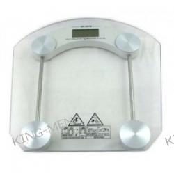 Cyfrowa waga łazienkowa ze szkła hartowanego - owal