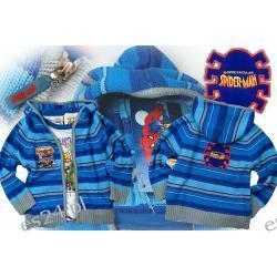 Sweter rozpinany z kapturem, z aplikacją Spiderman, rozmiar 98