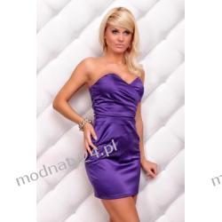 ELEGANCKA sukienka bez ramiączek SEXOWNA   38