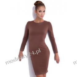 KLASYCZNA sukienka z przeszyciami