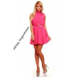 PIĘKNA sukienka ROMANTYCZNA szyfon WESELE * M 38