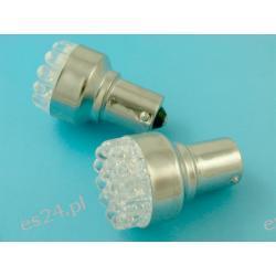 ŻARÓWKA LED T25 BA15S 19 LED - POMARAŃCZOWA (T25 BA15S) JEDNOWŁÓKNOWA Lampy tylne