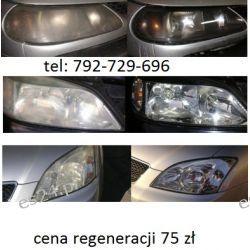 Polerowanie lamp regeneracja kloszy - lampy samochodowe