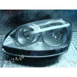 FV Golf 5 lewa lampa przednia srebrna Europa Lampy przednie