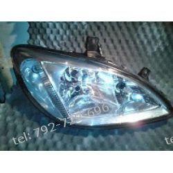 Mercedes Vito prawa lampa przód,+ oprawka kierunkowskazu +dekle + silniczek +  uszczelka, brak 1 dolnego uchwytu Zderzaki
