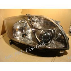 Toyota Auris prawa lampa przód xenon, klosz cały, brak 2 uchwytów