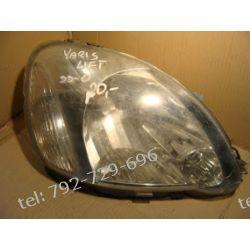 Toyota Yaris prawa lampa przód na części brak uchwytów Lampy przednie