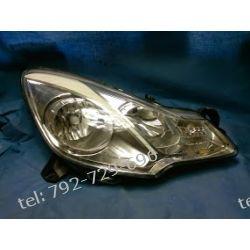 Citroen C3 II prawa lampa przód, lustro ładne, uchwyty całe, po kolizj na części lub do naprawy