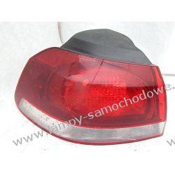 VW GOLF 6 LEWA LAMPA DELIKATNIE PĘKNIĘTA
